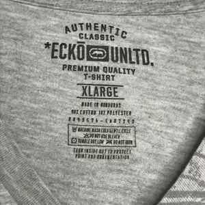 Ecko Unlimited Shirts - Ecko Unltd Gray Graffiti Graphic Tee Shirt A020483